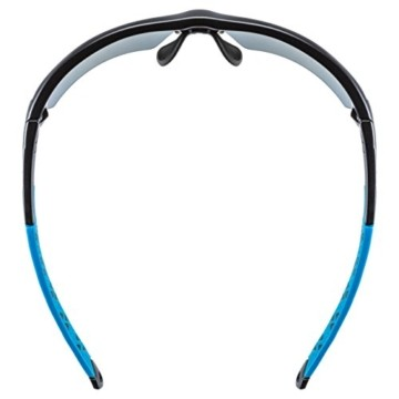 uvex Unisex– Erwachsene, sportstyle 224 Sportbrille, black mat blue/blue, one size - 5