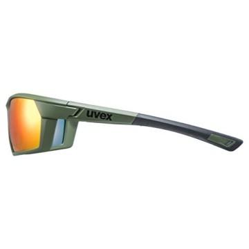 uvex Unisex– Erwachsene, sportstyle 225 Sportbrille, olive green/red, one size - 3