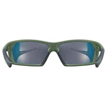 uvex Unisex– Erwachsene, sportstyle 225 Sportbrille, olive green/red, one size - 4