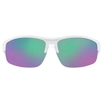 uvex Unisex– Erwachsene, sportstyle 226 Sportbrille, white/green, one size - 2