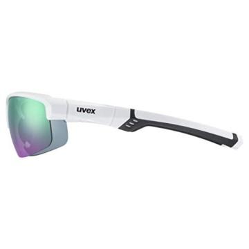 uvex Unisex– Erwachsene, sportstyle 226 Sportbrille, white/green, one size - 3
