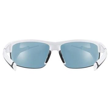 uvex Unisex– Erwachsene, sportstyle 226 Sportbrille, white/green, one size - 4