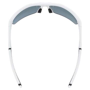 uvex Unisex– Erwachsene, sportstyle 226 Sportbrille, white/green, one size - 5
