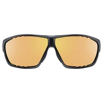 uvex Unisex– Erwachsene, sportstyle 706 cv vm Sportbrille, kontrastverstärkend, selbsttönend, black mat/red, one size - 2