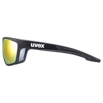 uvex Unisex– Erwachsene, sportstyle 706 cv vm Sportbrille, kontrastverstärkend, selbsttönend, black mat/red, one size - 3