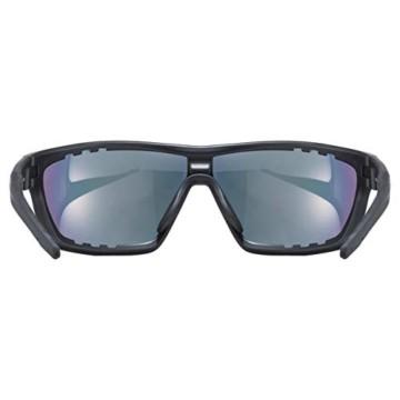 uvex Unisex– Erwachsene, sportstyle 706 cv vm Sportbrille, kontrastverstärkend, selbsttönend, black mat/red, one size - 4