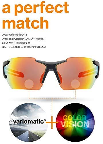 uvex Unisex– Erwachsene, sportstyle 706 cv vm Sportbrille, kontrastverstärkend, selbsttönend, black mat/red, one size - 6