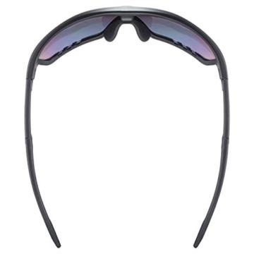 uvex Unisex– Erwachsene, sportstyle 706 cv vm Sportbrille, kontrastverstärkend, selbsttönend, black mat/red, one size - 7