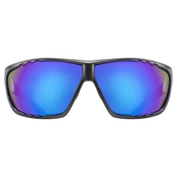 uvex Unisex– Erwachsene, sportstyle 706 Sportbrille, black mat white/blue, one size - 2
