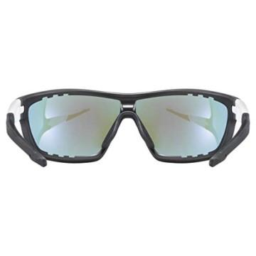 uvex Unisex– Erwachsene, sportstyle 706 Sportbrille, black mat white/blue, one size - 4
