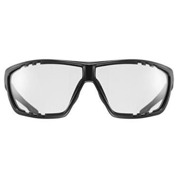 uvex Unisex– Erwachsene, sportstyle 706 V Sportbrille, selbsttönend, black mat/smoke, one size - 2