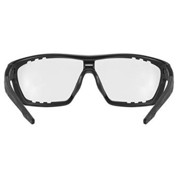 uvex Unisex– Erwachsene, sportstyle 706 V Sportbrille, selbsttönend, black mat/smoke, one size - 4