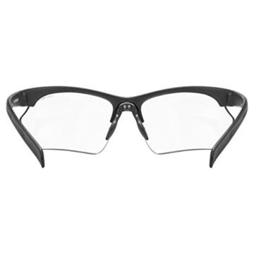 uvex Unisex– Erwachsene, sportstyle 802 V small Sportbrille, selbsttönend, schmale Passform, black mat/smoke, one size - 4
