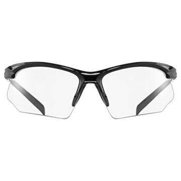 uvex Unisex– Erwachsene, sportstyle 802 V Sportbrille, selbsttönend, black/smoke, one size - 2