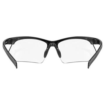 uvex Unisex– Erwachsene, sportstyle 802 V Sportbrille, selbsttönend, black/smoke, one size - 4