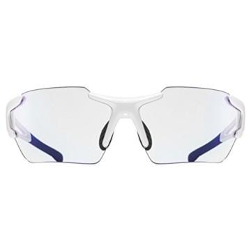 uvex Unisex– Erwachsene, sportstyle 803 race V small Sportbrille, selbsttönend, schmale Passform, white/blue, one size - 2