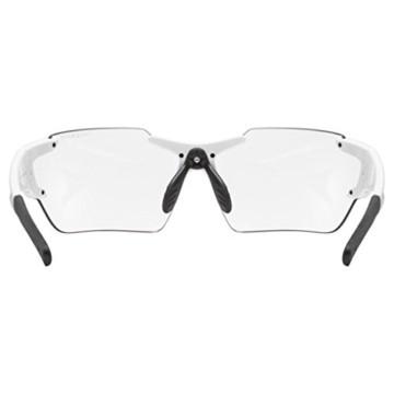 uvex Unisex– Erwachsene, sportstyle 803 race V small Sportbrille, selbsttönend, schmale Passform, white/blue, one size - 4