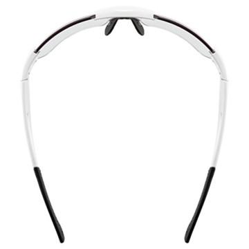 uvex Unisex– Erwachsene, sportstyle 803 race V small Sportbrille, selbsttönend, schmale Passform, white/blue, one size - 5