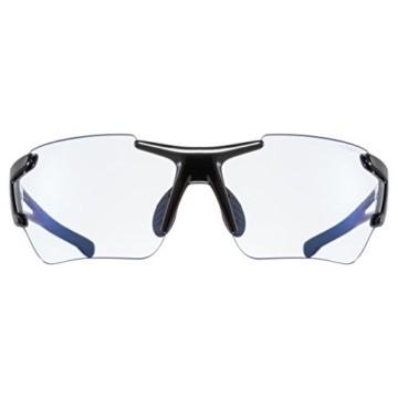 uvex Unisex– Erwachsene, sportstyle 803 race V Sportbrille, selbsttönend, black/blue, one size - 2