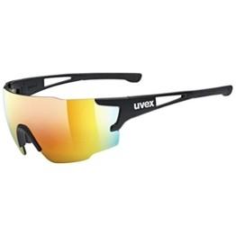 uvex Unisex– Erwachsene, sportstyle 804 Sportbrille, black mat/red, one size - 1