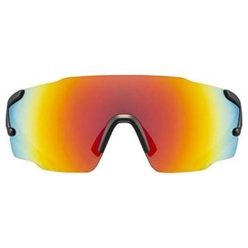 uvex Unisex– Erwachsene, sportstyle 804 Sportbrille, black mat/red, one size - 2