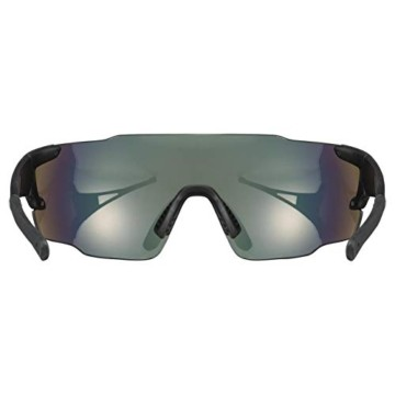 uvex Unisex– Erwachsene, sportstyle 804 Sportbrille, black mat/red, one size - 3