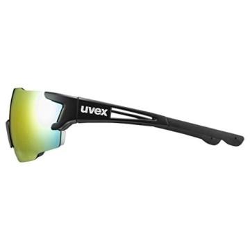 uvex Unisex– Erwachsene, sportstyle 804 Sportbrille, black mat/red, one size - 4