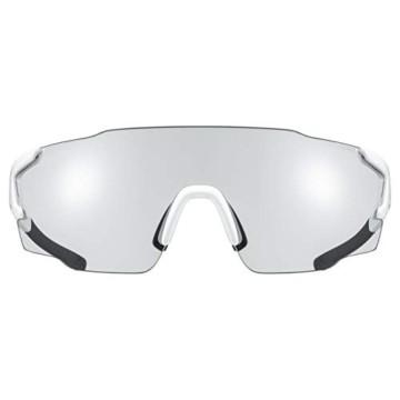 uvex Unisex– Erwachsene, sportstyle 804 V Sportbrille, selbsttönend, white/smoke, one size - 2