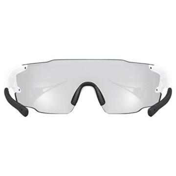 uvex Unisex– Erwachsene, sportstyle 804 V Sportbrille, selbsttönend, white/smoke, one size - 3