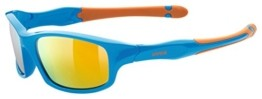 uvex Unisex Jugend, sportstyle 507 Sonnenbrille, blue-orange/orange, one size - 1