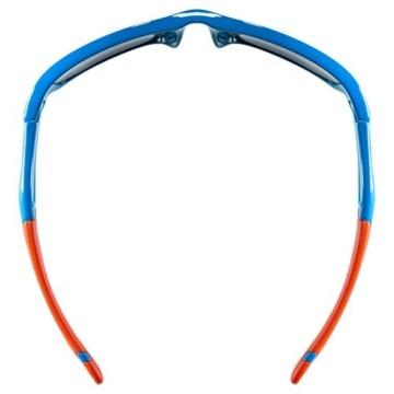 uvex Unisex Jugend, sportstyle 507 Sonnenbrille, blue-orange/orange, one size - 5