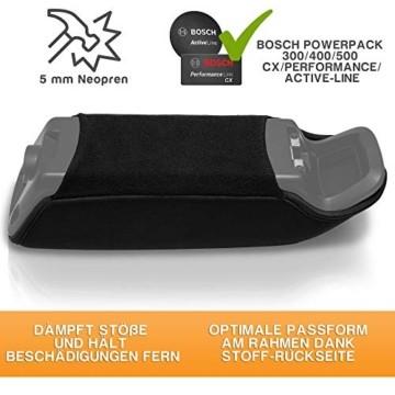 Wheeloo E-Bike Akkuschutz für Bosch Powerpack I Erhöht Laufzeit & Lebensdauer I für Powerpack 300/400/500 CX Performance Active-Line I gegen Kälte und Schmutz I Akku Abdeckung Cover Schutzhülle - 3