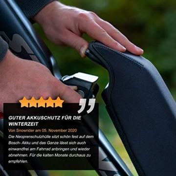 Wheeloo E-Bike Akkuschutz für Bosch Powerpack I Erhöht Laufzeit & Lebensdauer I für Powerpack 300/400/500 CX Performance Active-Line I gegen Kälte und Schmutz I Akku Abdeckung Cover Schutzhülle - 6