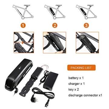 YOSE POWER E-Bike Batterie 36V 12.5Ah Hailong Fahrradakku Unterrohr für Mifa Vaun Prophete Schwarz - 3