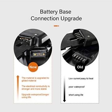 YOSE POWER E-Bike Batterie 36V 12.5Ah Hailong Fahrradakku Unterrohr für Mifa Vaun Prophete Schwarz - 4