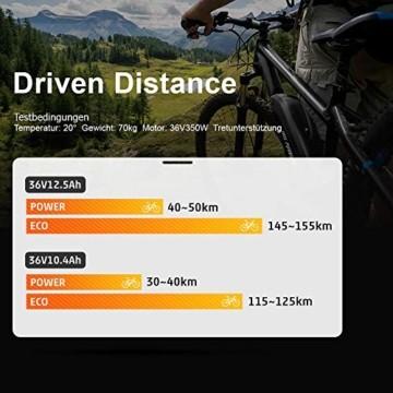 YOSE POWER E-Bike Batterie 36V 12.5Ah Hailong Fahrradakku Unterrohr für Mifa Vaun Prophete Schwarz - 5