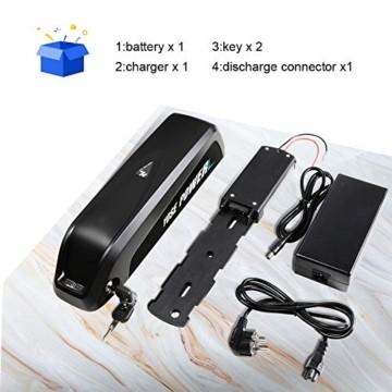 YOSE POWER E-Bike Batterie 36V 12.5Ah Hailong Fahrradakku Unterrohr für Mifa Vaun Prophete Schwarz - 7
